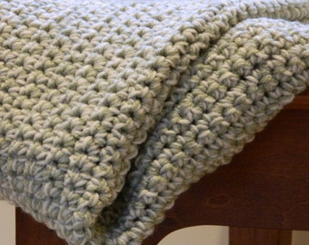 Crochet Blanket - 4' by 5' Lap Blanket - Double Weight Afghan, Custom Blanket, Crochet Blanket, Beach Blanket, Home Décor, Crochet Afghan