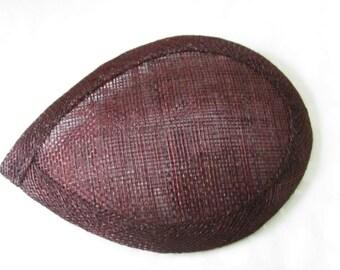 Brown Teardrop Hat Base / Hat Base / Sinamay hat base / Fascinator Base / DIY Fascinator