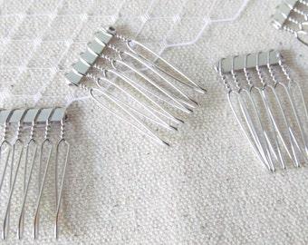 Silver metal comb / Fascinator comb CB-01