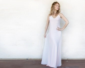 Light pink dress, open back maxi dress, prom dress