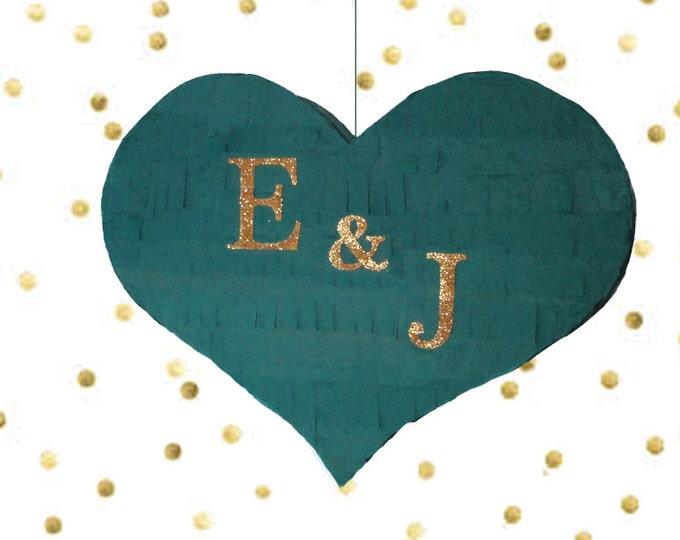 Wedding Pinata, Monagram Piñata, Personalized Wedding Piñata, Heart Piñata with Custom Initials, Wedding Decor