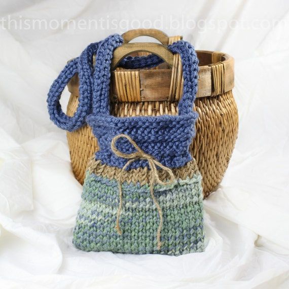 Quick Knit Loom Patterns : Loom Knit Handbag Pattern: PATTERN ONLY Quick and Easy