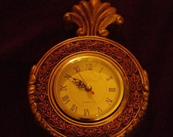 Gorgeous Vintage Heavy Iron Victorian Style Mantle Clock Not Working Needs Repair - Great for Restoration and Parts
