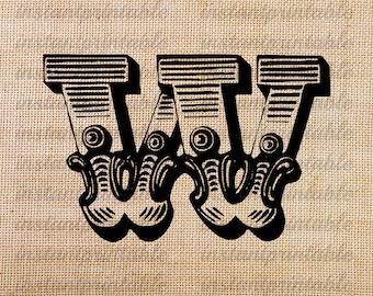 Stencil Letters W Printable Free W Stencils  Stencil