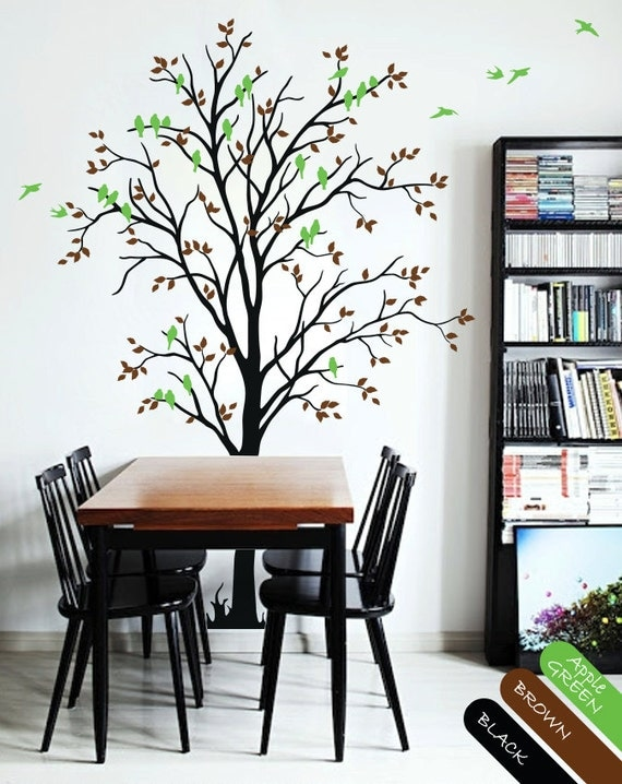 Dining Room Tree Wall Decal With Birds Nursery Wall Decals