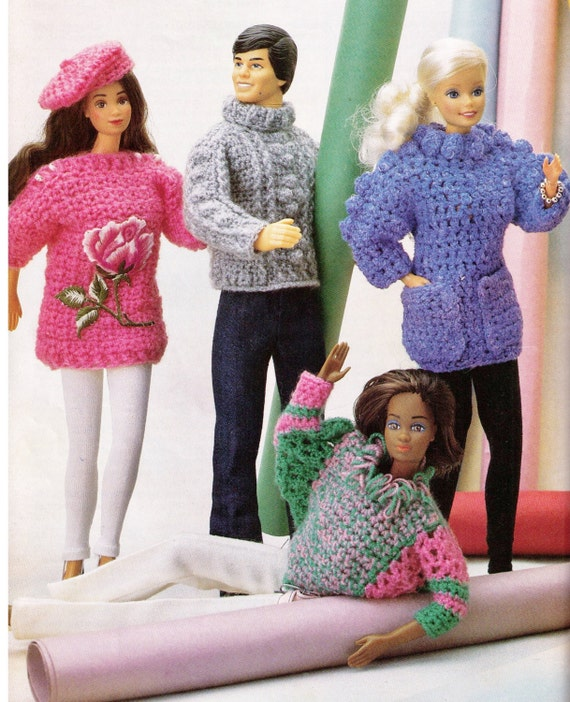 Knitting Patterns For Bratz Doll Clothes : BARBIE & KEN or MOnSTeR HiGh or BratZ DoLls MaTching ARaN