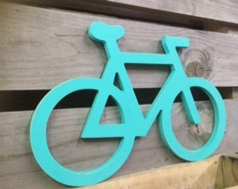 "Bicycle Sign Wall Art |  Almost 20"" W and 14"" H 