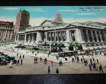 POSTCARD Early 1900s The Public Library New York City