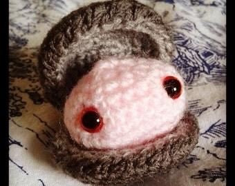 Crocheted clam plush