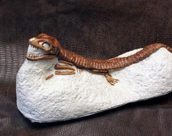 Cast Sculpture Fossil Crocodile Hoplosuchus
