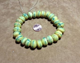 Venetian yellow trade beads