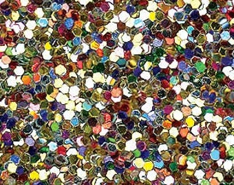 Glitter Fabric. Metallic Allsorts. 100cm x 130cm. JR08986