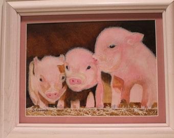 The Three Little Pigs..................Cute little pigs feeding