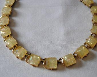 Costume Citrine Stone Necklace