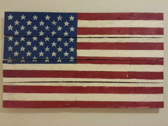 hand painted american flag pallet wall hanging. Black Bedroom Furniture Sets. Home Design Ideas