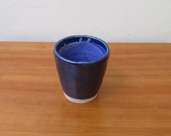 indigo and purple drinking cup