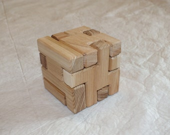 3D Wooden Cube Puzzle