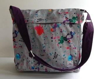 Messenger bag, diaper bag, purse, hip bag, shoulder bag , travel bag, gym bag, laptop - MILAN
