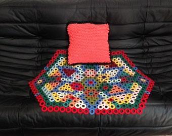 Tapis vintage jeté de canapé hippie textile