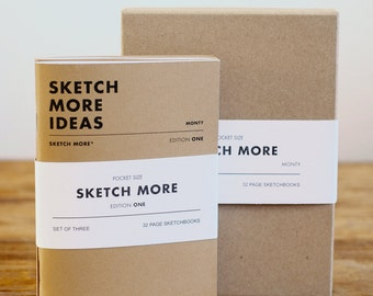 A6 Sketchbook / Notebook Set of Three, handmade in England