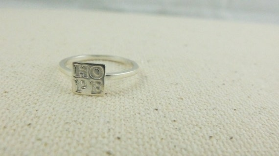HOPE ring Made of Recycled Sterling Silver