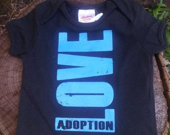 Infant LOVE Adoption T-shirt SALE (originally 15.00)