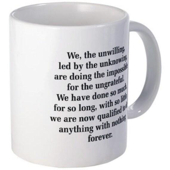 Items Similar To We The Unwilling Office Coffee Mug On Etsy