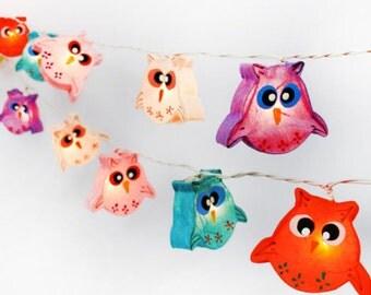 20 Owl Lanterns String Lights Fairy,Kid's Room Home Lighting Home Decor