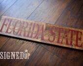 Florida State Seminoles Wood Sign