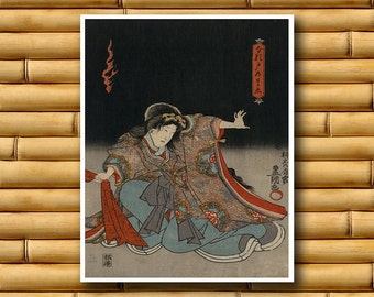 Japanese Art Asian Decor Print Retro Poster (J12)