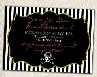 Halloween Party Invitation -  Customizable - You Print