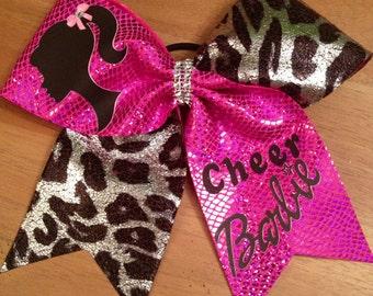 Cheerbow, cheer bow , cheerleader , Barbie bow , Barbie cheer bow , pink bow , hair bow , Barbie ,