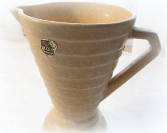 Vintage Pottery Vase Australian Pottery Mid Century Diana brand Vase Cream Beige