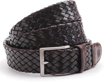 Belt Braided Leather Bull