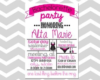 Bachelorette Party Invitation/Card
