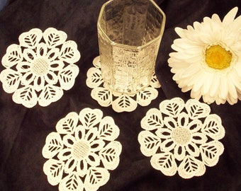Lace Coasters; FSL Coasters; Wedding Coasters