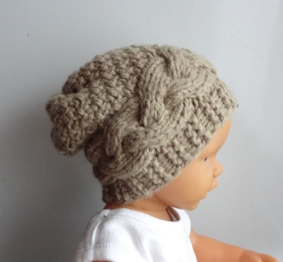 Hipster Hat Knitting Pattern : Newborn Hipster Hat Baby Fall Winter sacking Hat by IfonBabyLand