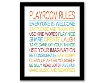 Playroom Rules, Playroom Decor, Boys Playroom Art, Playroom Wall Art, Boys Room Art, Printable Kids Art, Playroom Sign, INSTANT DOWNLOAD