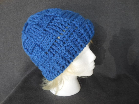 How To Make A Basket Weave Hat : Basket weave beanie by theloveofstitching on etsy