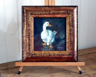 Goose after the rain (Original Oil Painting)