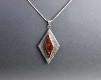 Sterling Silver And Snakewood pendant