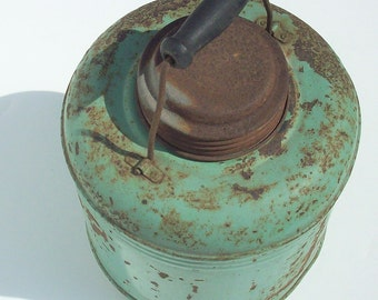 Vintage Rusty Relic / Old Green Thermos