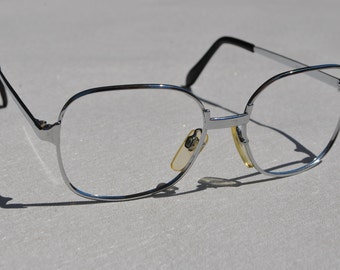 vintage silver 50-20 almost square eyeglasses / sunglasses frame New