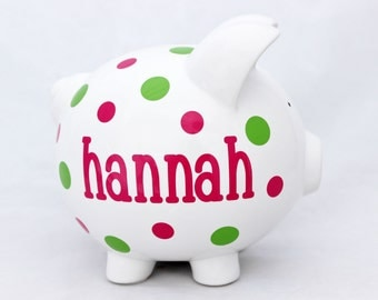Personalized Piggy Bank.