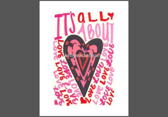 Digital Art Print PDF Printable Heart Design Love