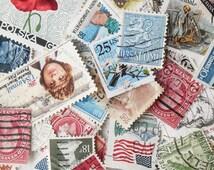 50 Used Vintage Postage Stamps Worldwide Postage Stamps Vintage Stamps Scrapbooking Altered Art JA