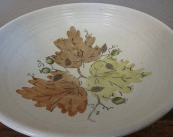 Vintage Metlox Poppytrail Platter and Serving Bowl