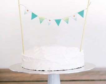 "Bunting Cake Topper - ""Ombre"""