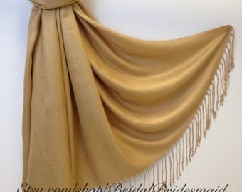 GOLD  PASHMINA - gold shawl - bridal scarf - bridal shawl - bridesmaid gift - wedding gift - scarf - shawl - gift - keepsake - keepsakes