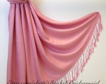 DUSTY ROSE SCARF - Dusty Rose Shawl - Dusty Rose Pashmina - Bridesmaid Pashmina Dusty Rose - Shawls in Dusty Rose - Scarves and Wraps